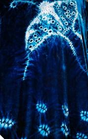 Silk_Rayon Indigo Kimono (Butterfly)