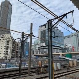 埼京線ホームより桜丘再開発