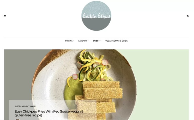 vegan web design examples by shido digital for edible ethics