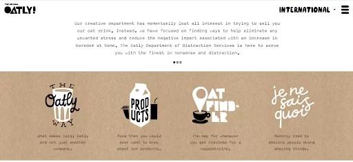 a screenshot of Oatly's vegan website