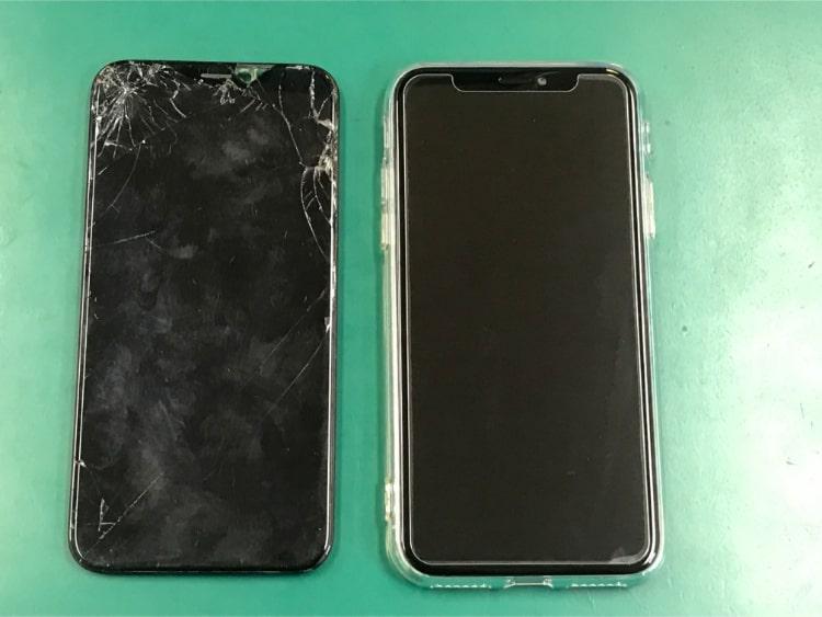iPhoneXの画面修理