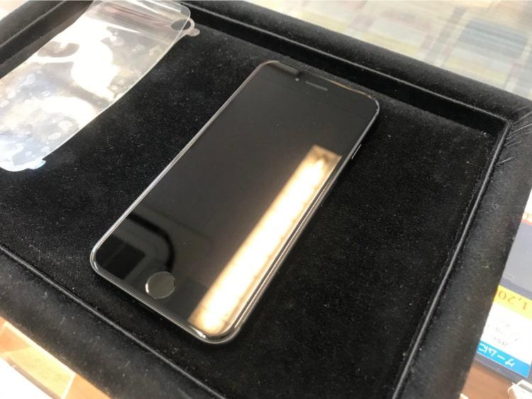 iPhone8をガラスコーティング