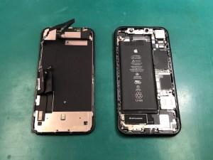 iPhoneXRの画面修理後