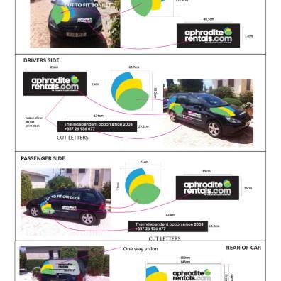 APHRODITE RENTALS car graphics visuals