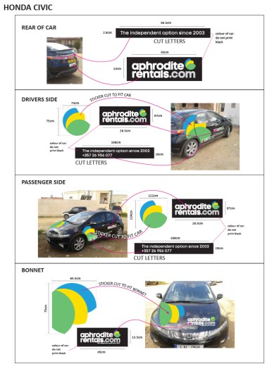 APHRODITE RENTALS civic graphics visuals