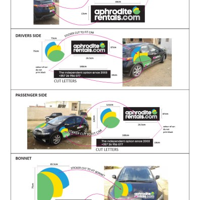 APHRODITE RENTALS civic graphics visuals