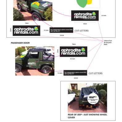 APHRODITE RENTALS jeep graphics visuals