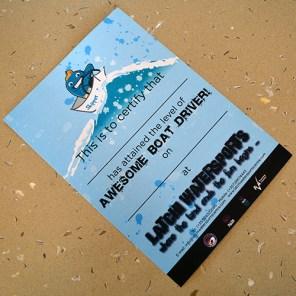 Latchi Watersports Certificate