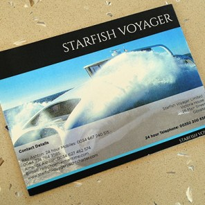 Starfish Voyager luxury flyer printed by Shields