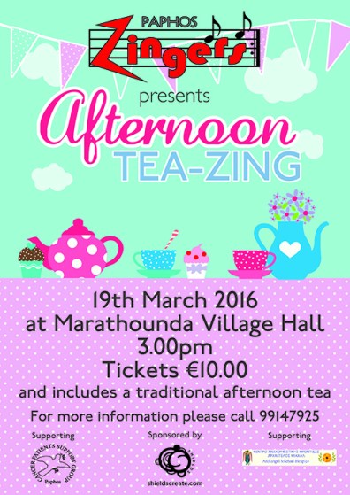 Afternoon Tea-Zing flyer designed and printed by Shields