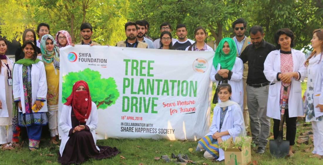 Shifa Foundation, Tree plantation, climate change, climate, trees, shifa