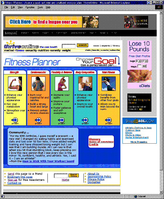 fitness planner perl code html