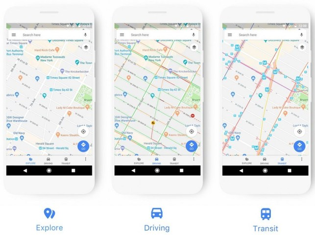 google maps güncellendi