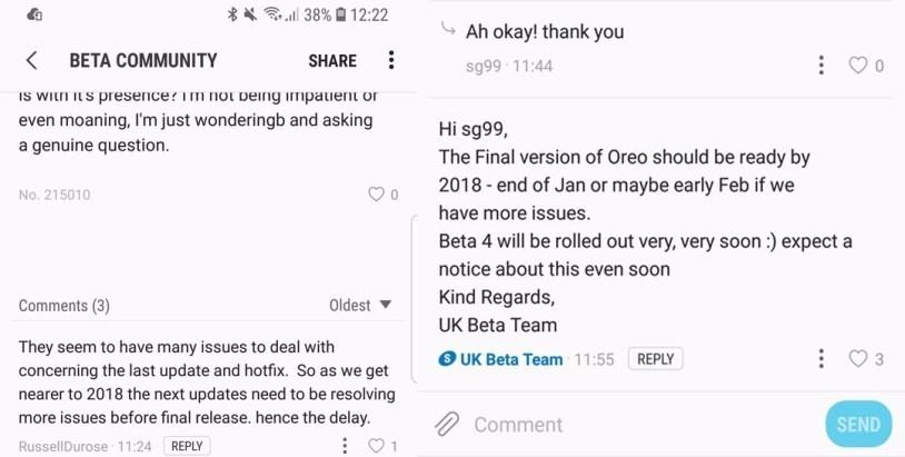 Galaxy S8 için Android Oreo