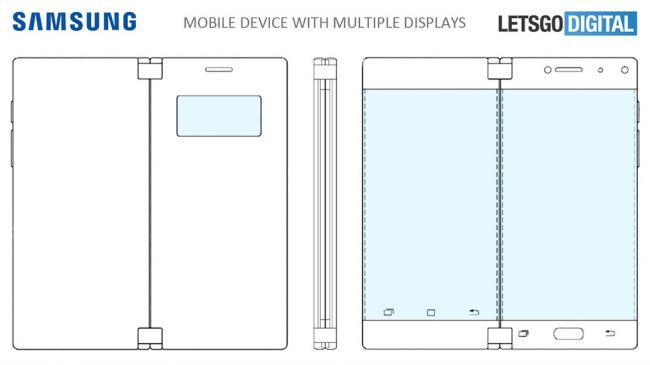 çift ekranlı katlanabilir telefon