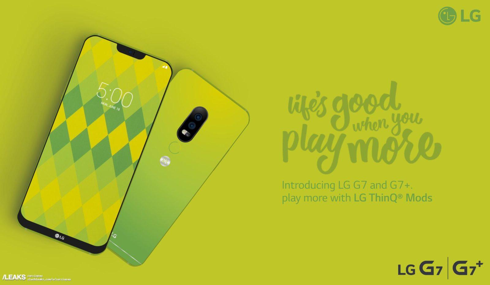 LG G7 reklam afişi internete düştü