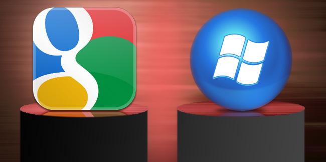 Microsoft ile Google