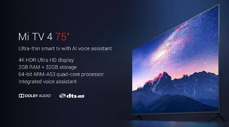 xiaomi mi tv 4 tanıtıldı