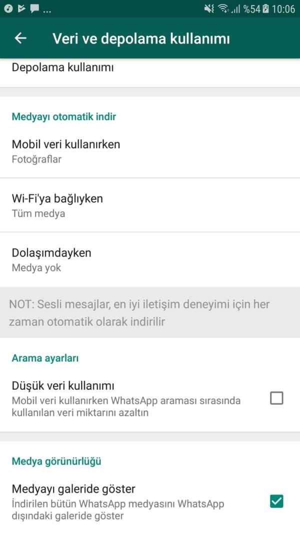 WhatsApp medya görünürlüğü