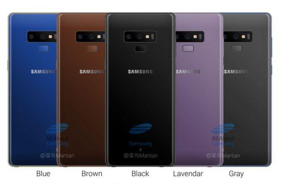 Galaxy Note 9 renk seçenekleri