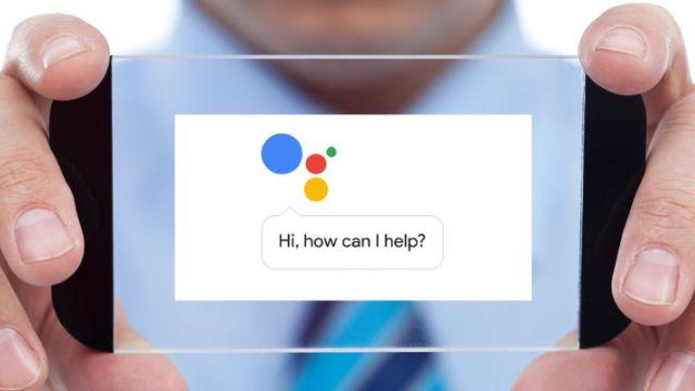 Google Asistan kullanıcı arayüzü