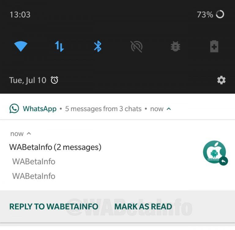 WhatsApp okundu olarak işaretle