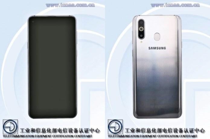 Galaxy A8s tasarımı
