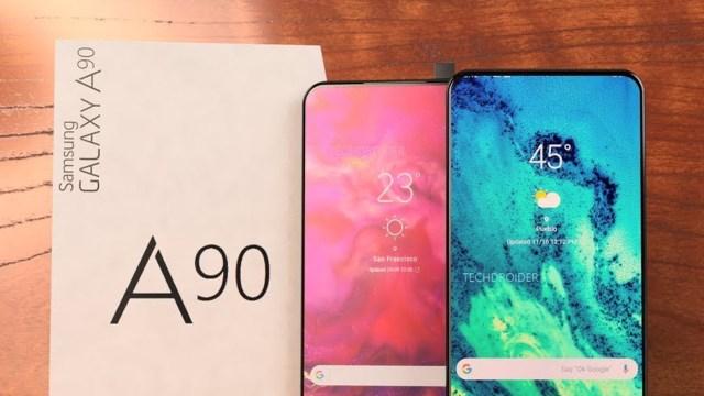 Galaxy A90 tasarımı ile Samsung'da ilk olacak!