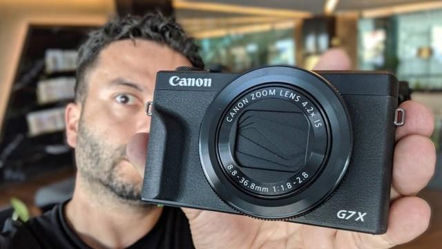 Canon PowerShot G7X Mark 3 kutu açılışı