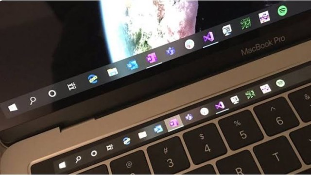 MacBook Pro Touch Bar Windows 10