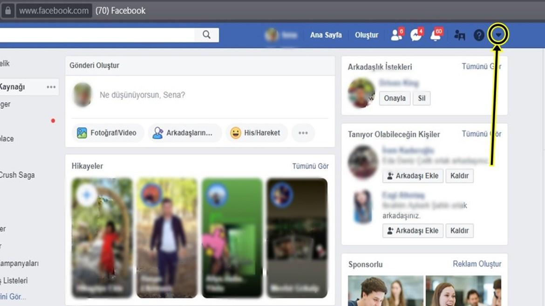 Facebook dondurma nasıl yapılır?