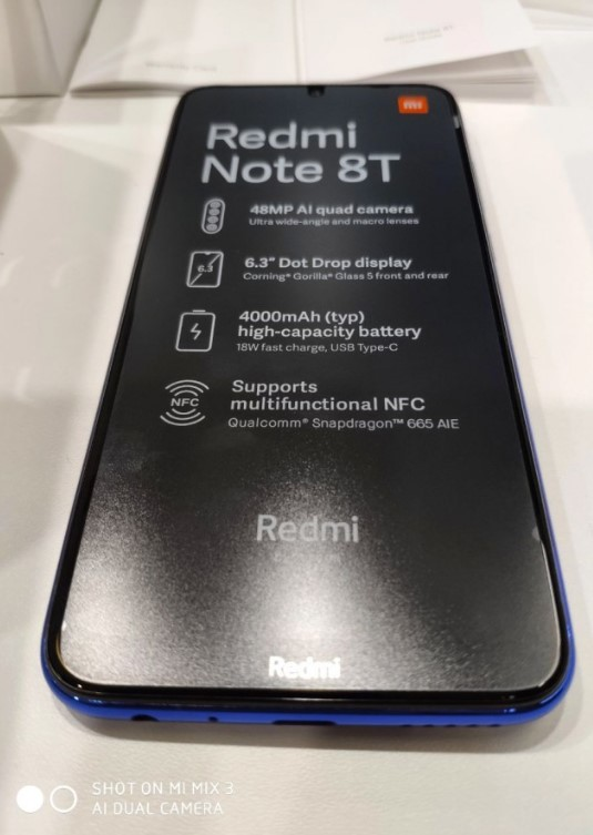 Xiaomi Redmi Note8T modeli görüntüsü