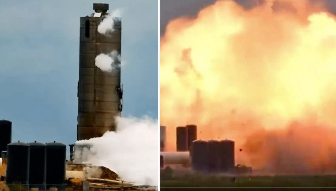 SpaceX Starship roket prototipi test sırasında infilak etti