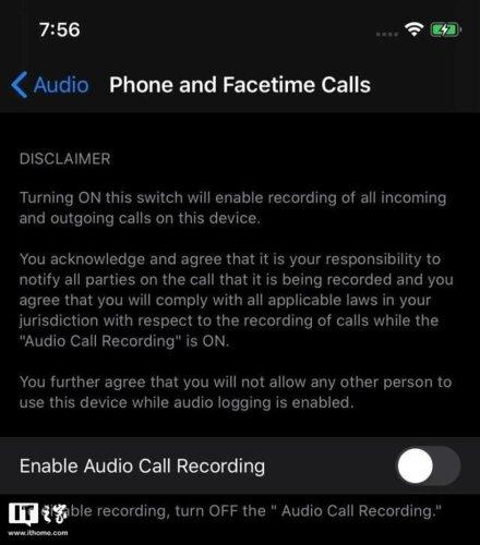 iPhone arama kaydetme