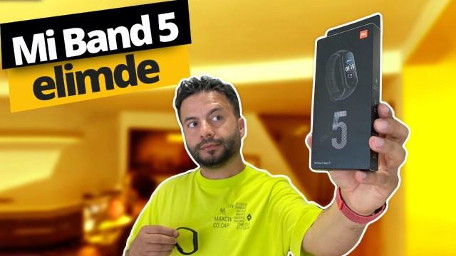 Xiaomi Mi Band 5 kutu açılışı