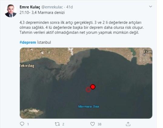 istanbul deprem, marmara deprem, deprem, 3,7 deprem
