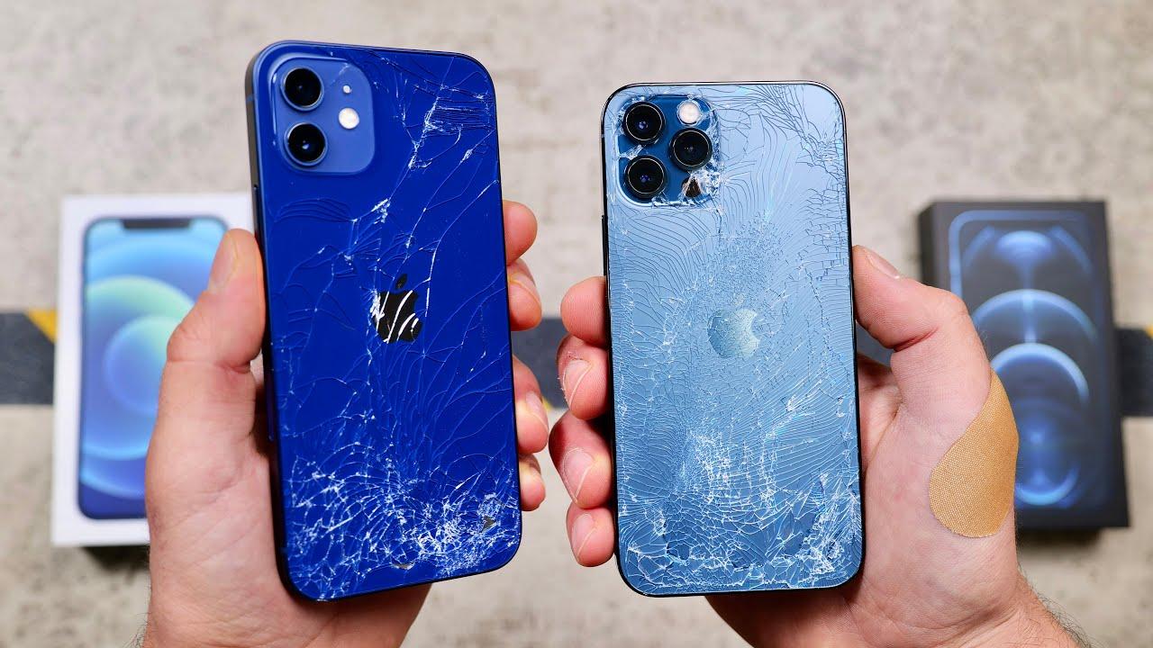 iPhone 12 Pro ve iPhone 12 dusme testi