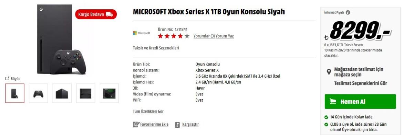 Xbox Series X Türkiye fiyatına indirim