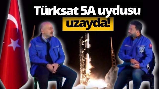 Türksat 5A uzayda! İşte tarihi anlar