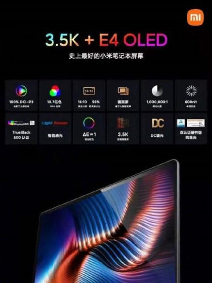 Mi Notebook Pro 15 ekran özellikleri