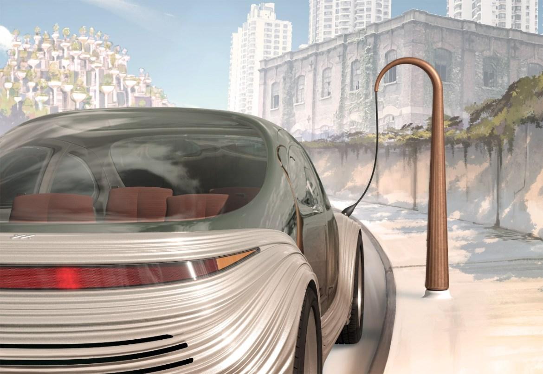 elektrikli sürücüsüz otomobil