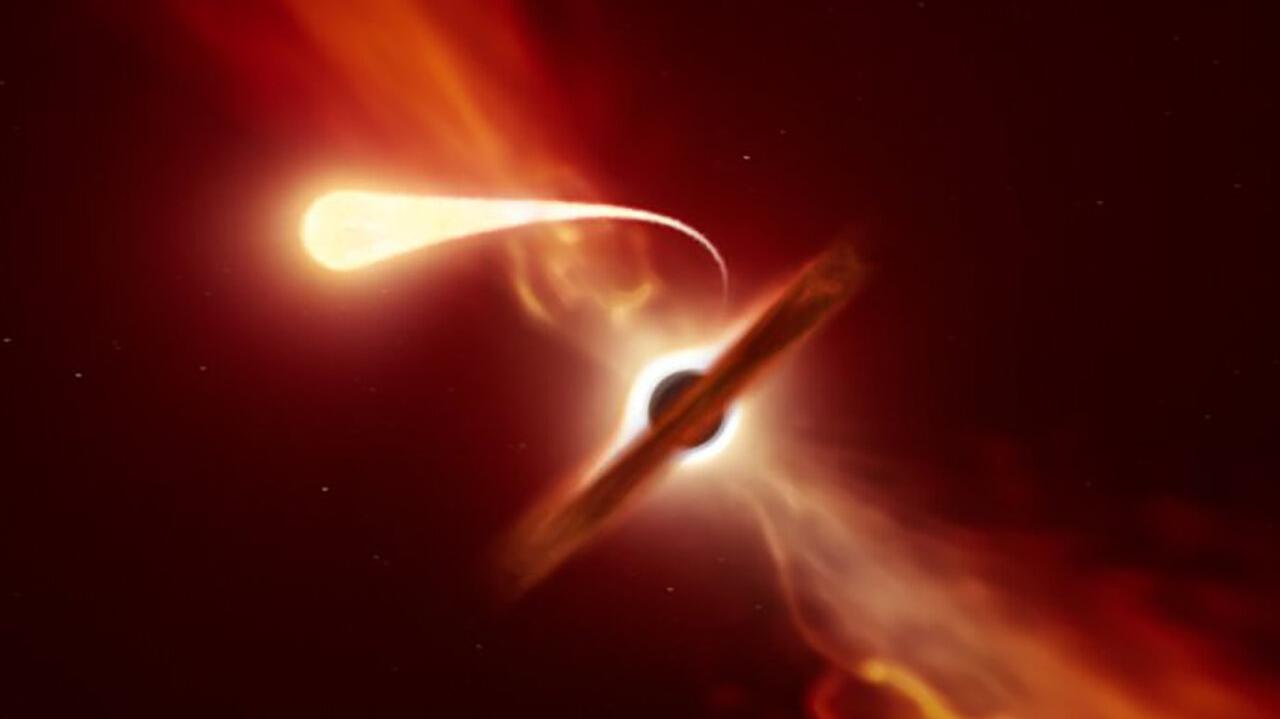 kara deliğin yıldızı yutma anı