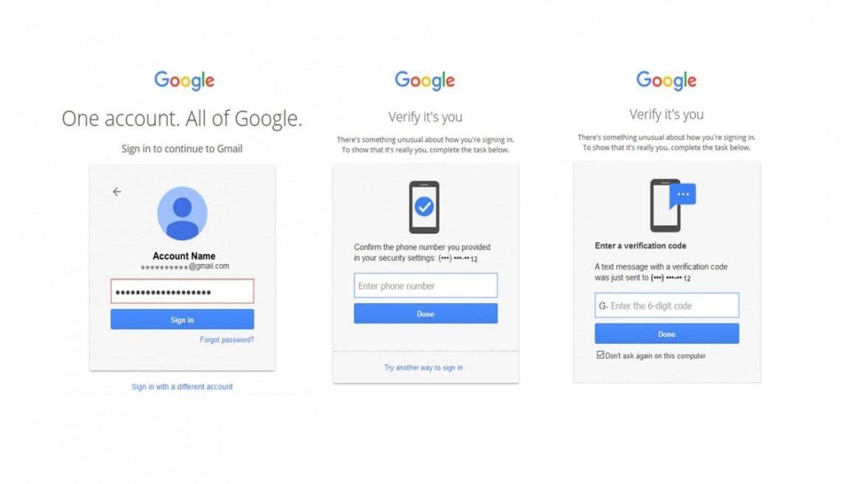 Google iki faktörlü kimlik doğrulama