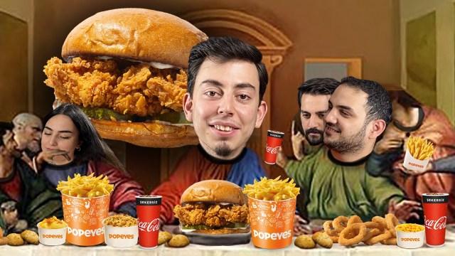 Popeyes The Chicken Sandwich kutu açılışı
