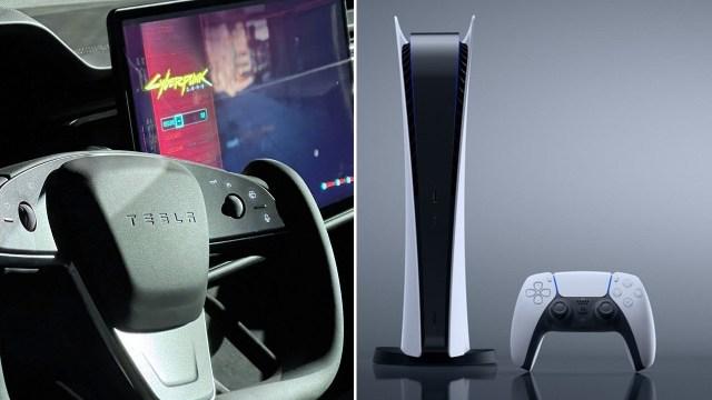 Tesla Model S Plaid'den PS5 seviyesi oyun deneyimi