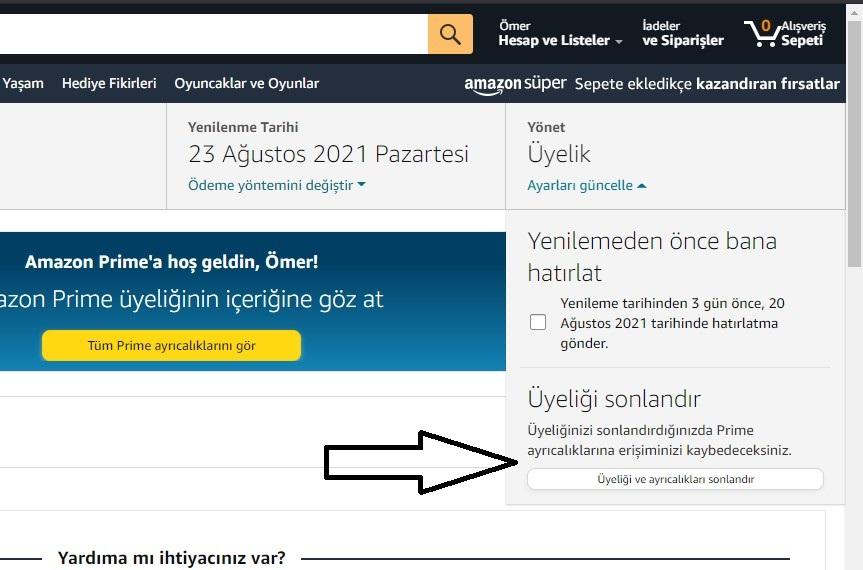 How to cancel Amazon Prime membership? 2