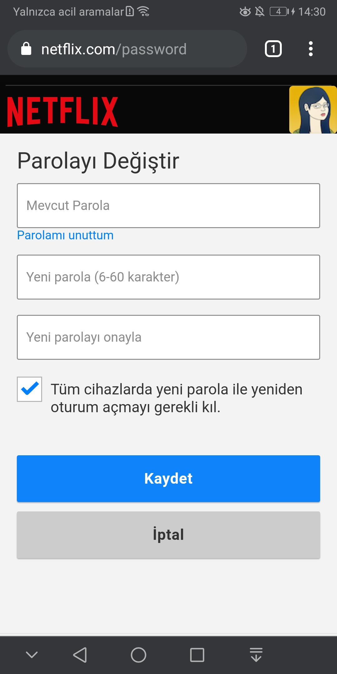 How to change Netflix password? (iOS, Android, Web) 7