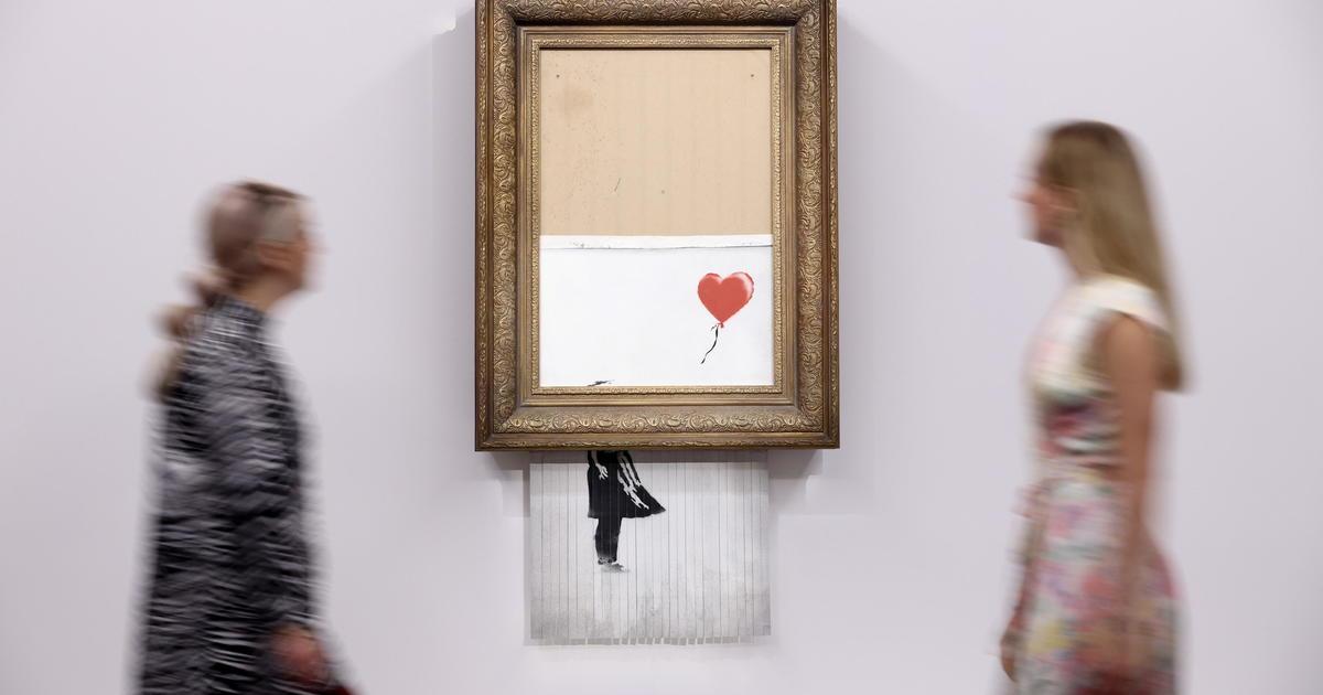 Kendini imha eden sanat eseri dudak uçuklatan fiyata görücüde
