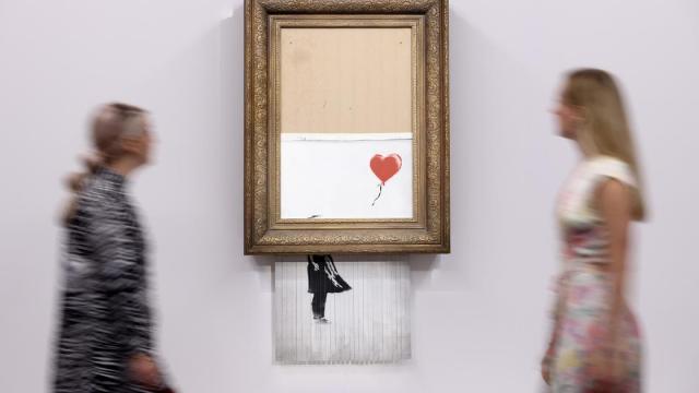 Banksy'nin kendini imha eden sanat eseri, yeniden satışa çıktı!