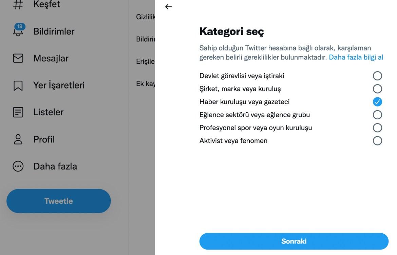 Twitter mavi tik 2021
